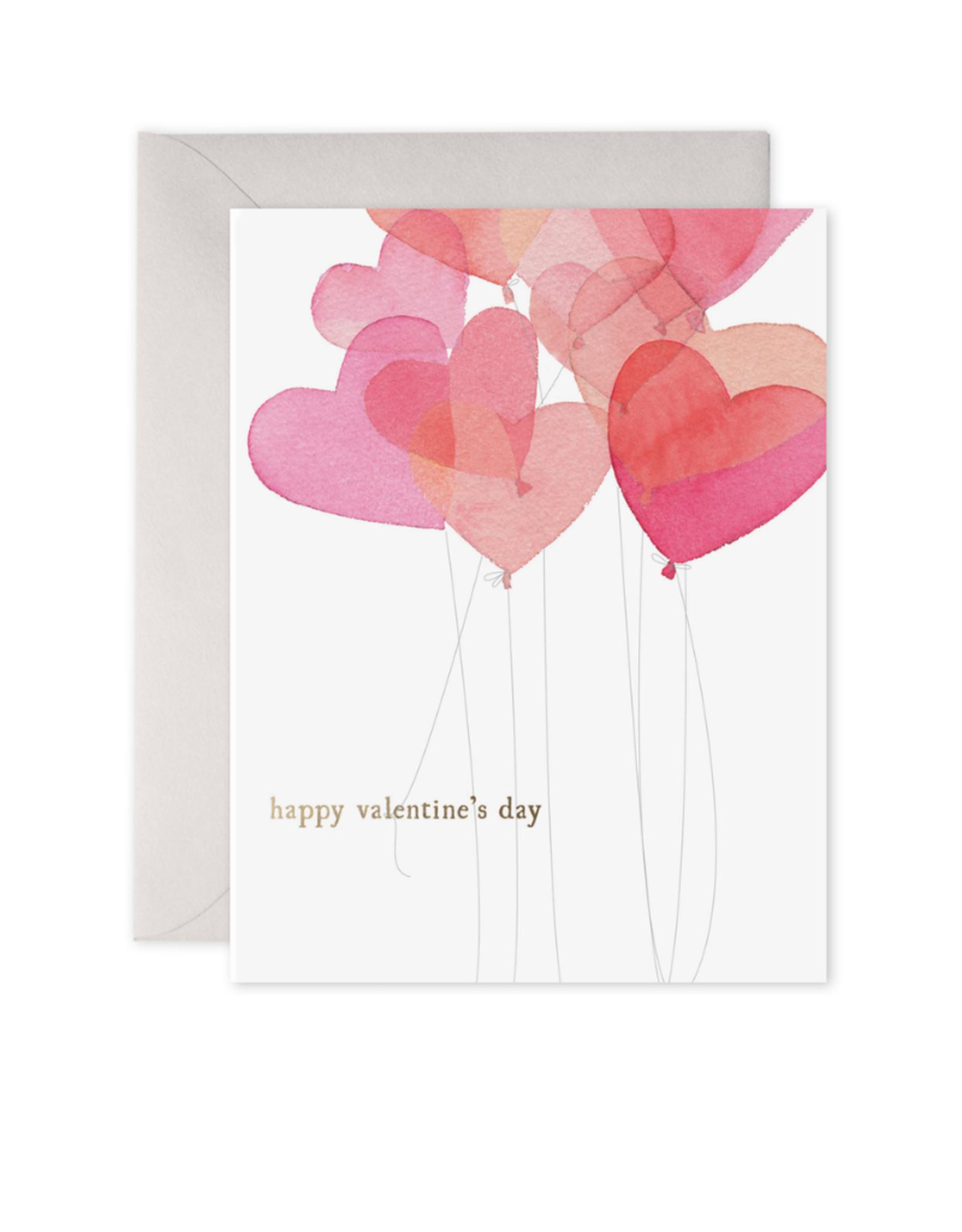 E. Frances Paper Valentine Balloons Card