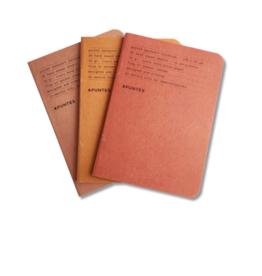 Apuntes Apuntes Pocket Notebooks Jute en Rojos Set of 3