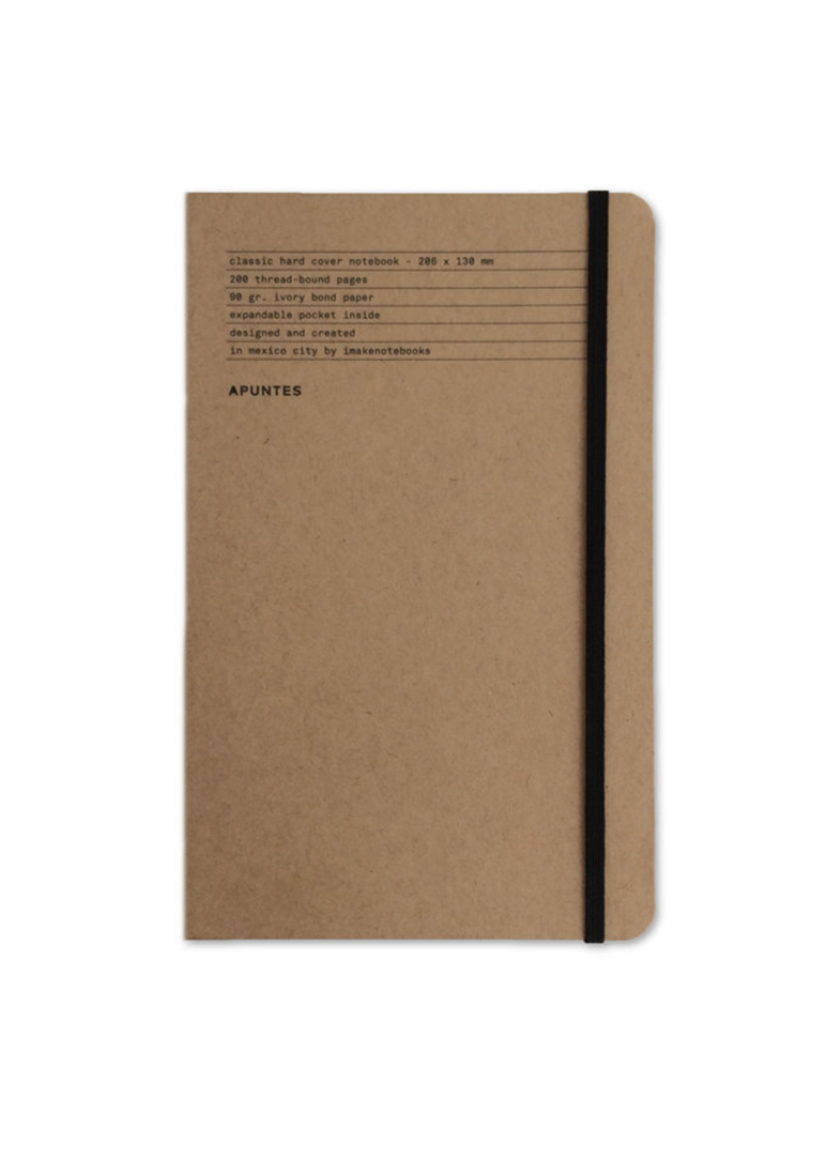 Apuntes Hard Cover Lined Basico Jute
