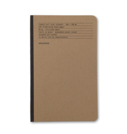 Apuntes Apuntes Soft Cover Jute Lomo Gris Oscuro Notebook
