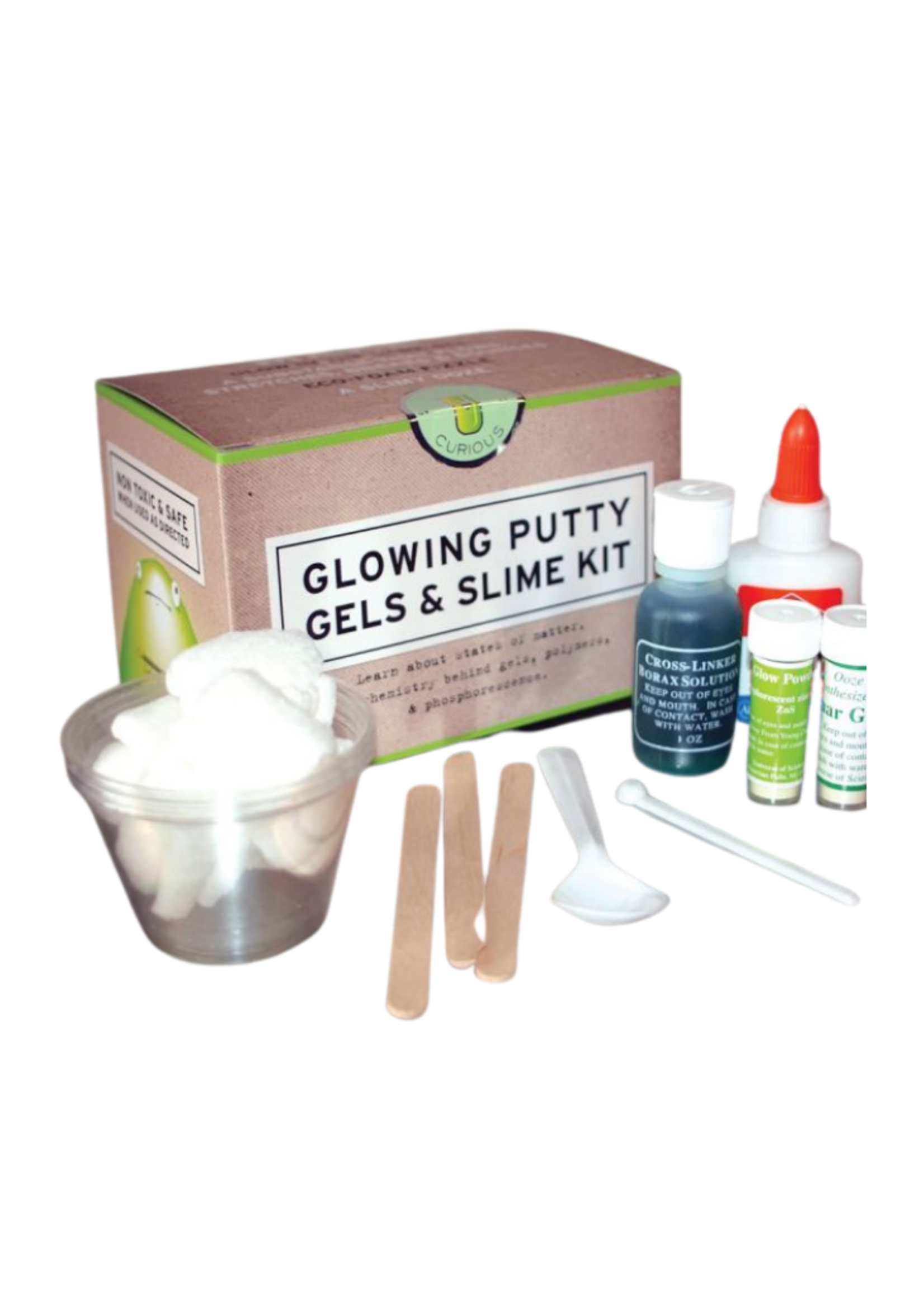 Copernicus Toys Glowing Putty, Gels & Slime Kit
