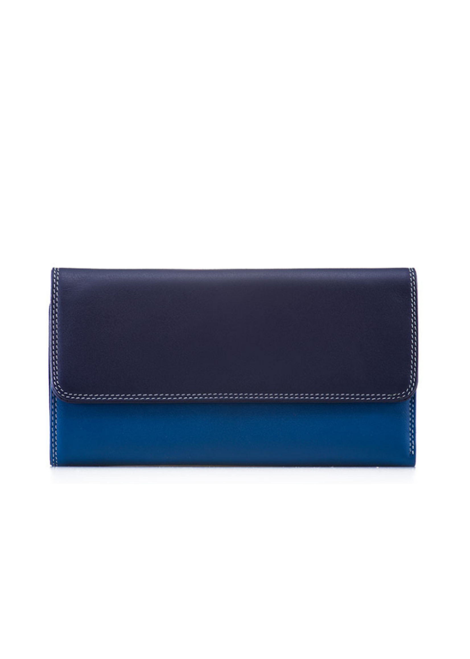MyWalit MyWalit Tri-fold With Outer Zip Purse Denim