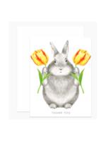 Dear Hancock Dear Hancock - Bunny w/Tulips Thank You Card