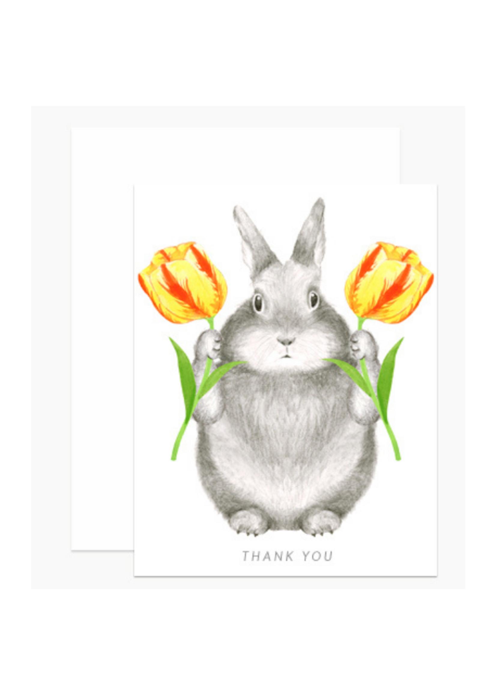 Dear Hancock Bunny w/Tulips Thank You Card