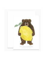 Dear Hancock Dear Hancock - Lemon Bear Birthday Card