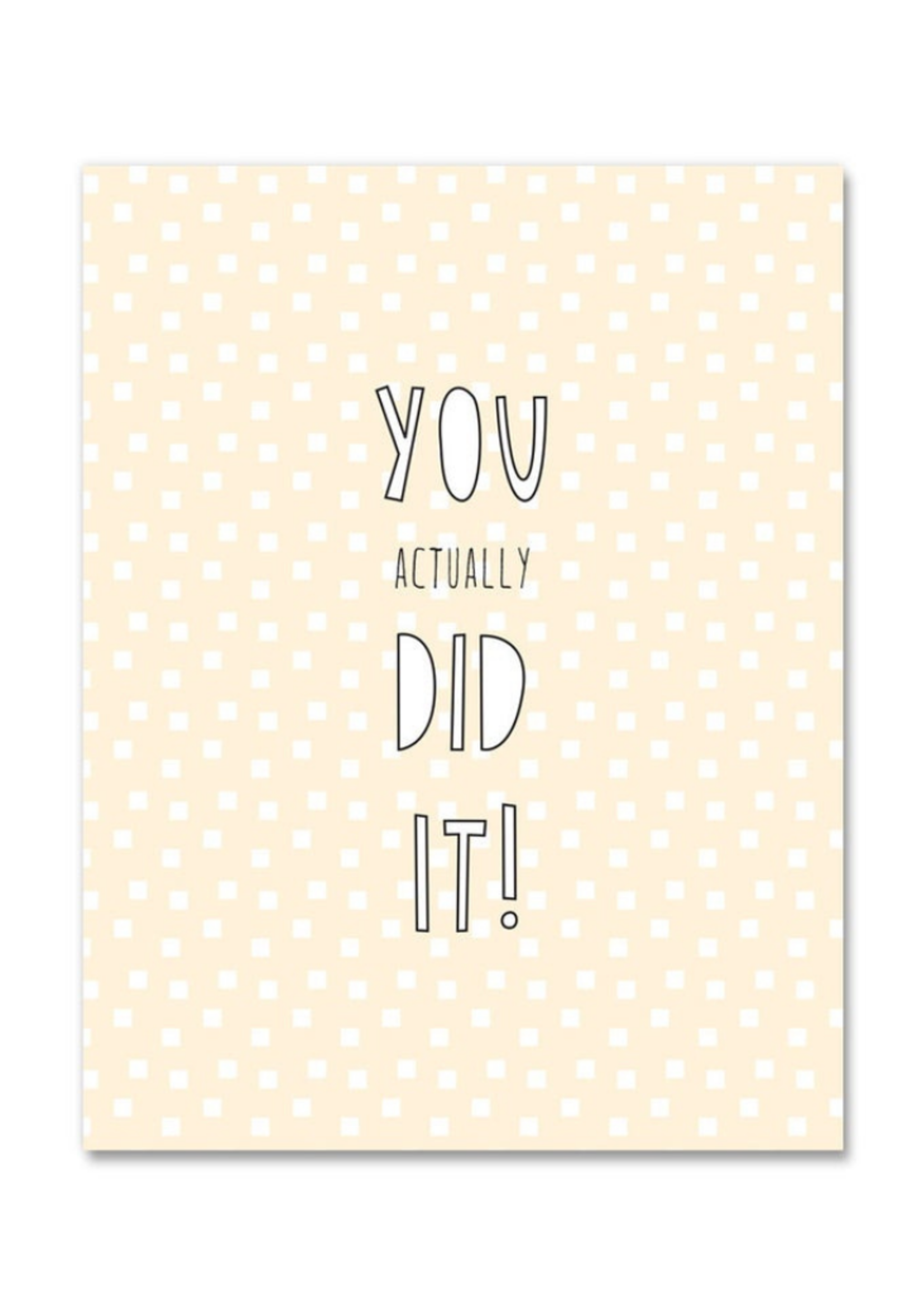 Near Modern Disaster You Actually Did It! Congratulations Card