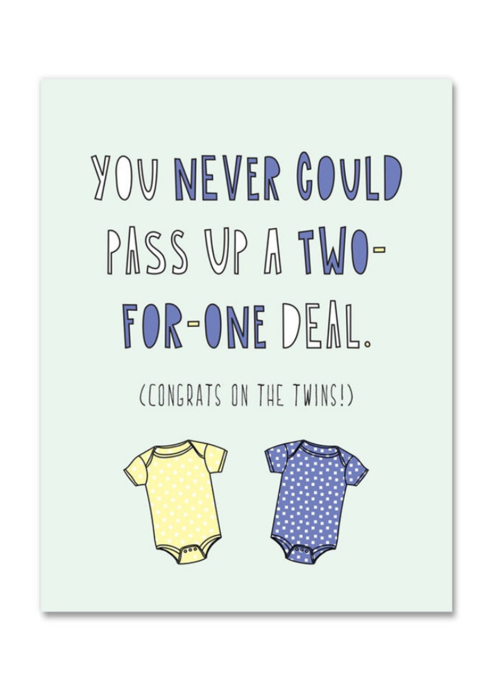 Near Modern Disaster Two For One Deal Baby Card