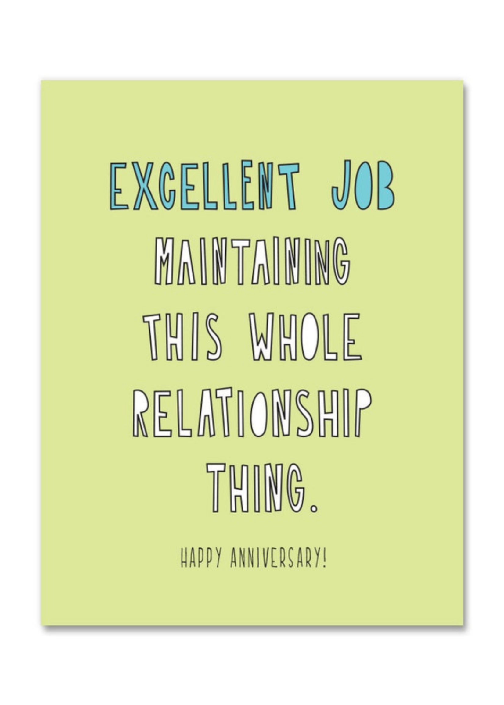 Near Modern Disaster This Relationship Thing Anniversary Card