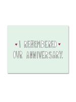 Near Modern Disaster Near Modern Disaster - I Remembered Anniversary Card