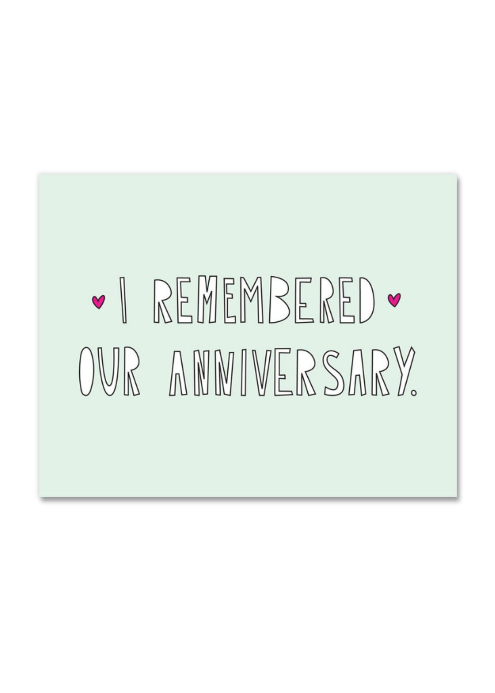 Near Modern Disaster I Remembered Anniversary Card