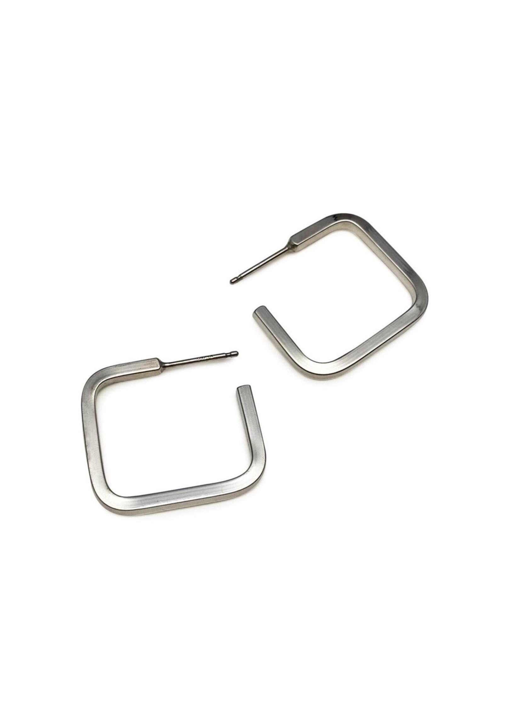 Suga Jewelry Suga Jewelry Square Hoop Earrings
