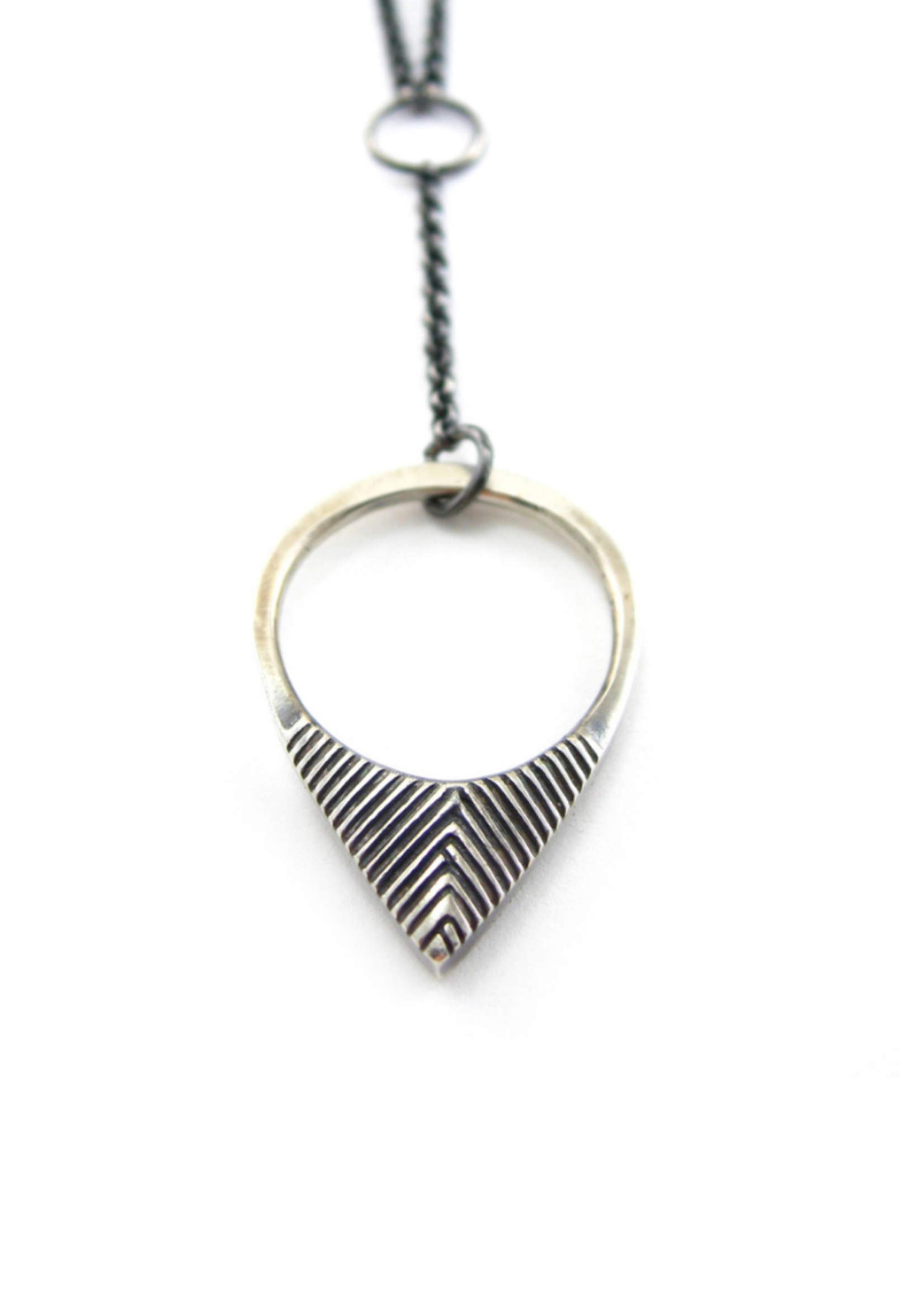 Sharon Z Jewelry Vertex Necklace OX Silver