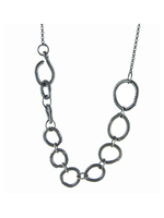 Sharon Z Jewelry Sharon Open Stone Necklace OX Silver
