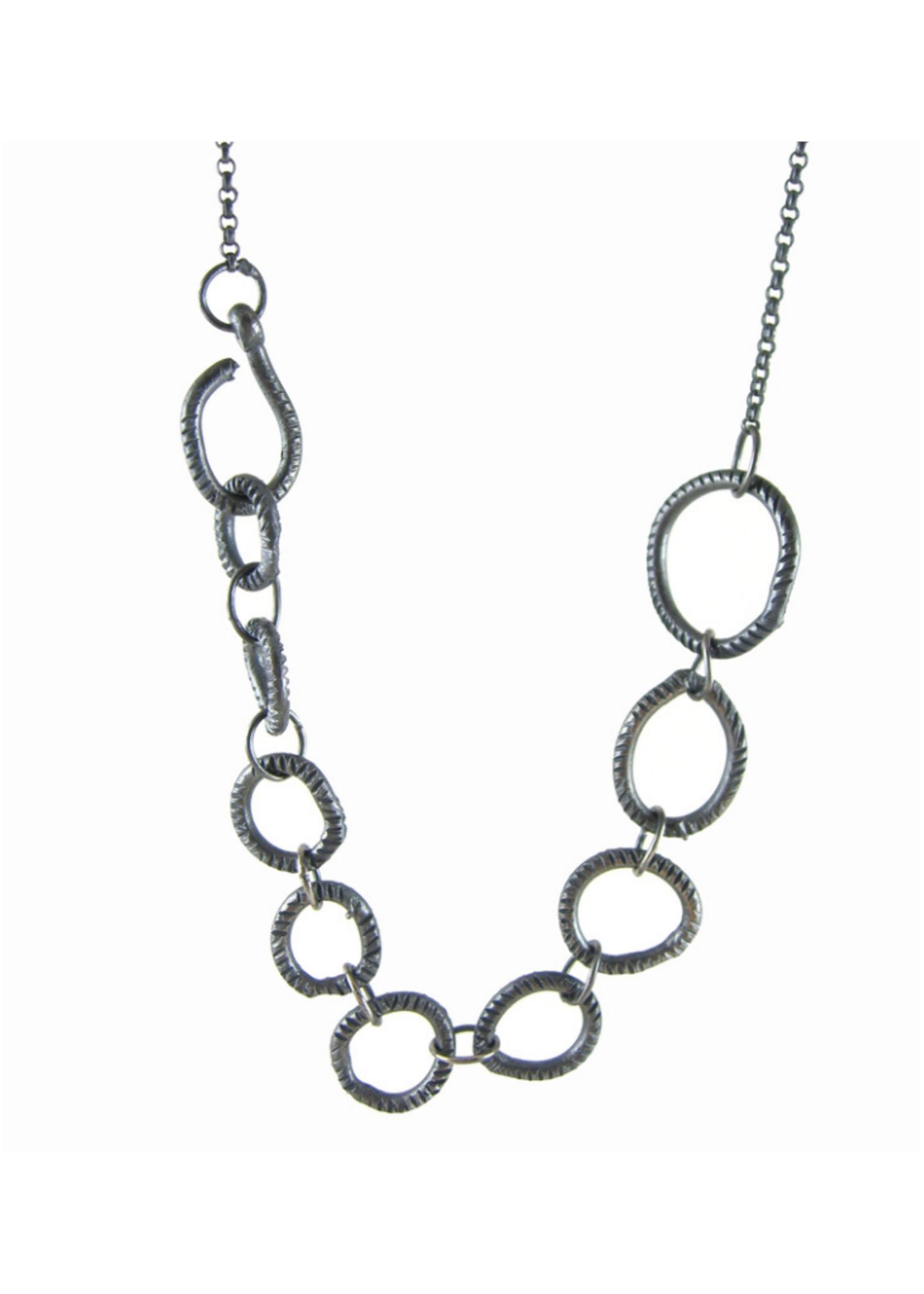 Sharon Z Jewelry Open Stone Necklace OX Silver