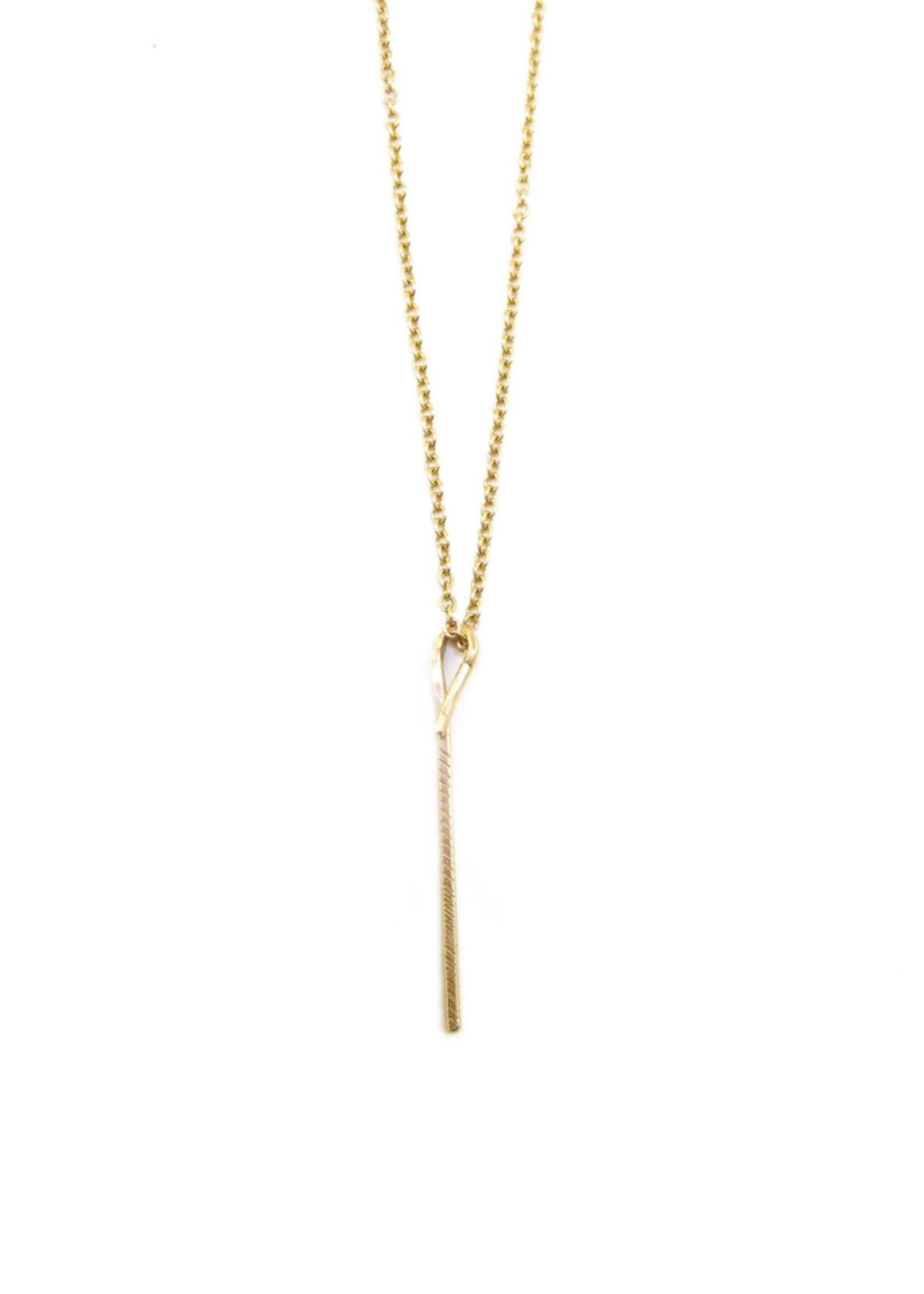 Sharon Z Jewelry Mini Stick Necklace 14KYG