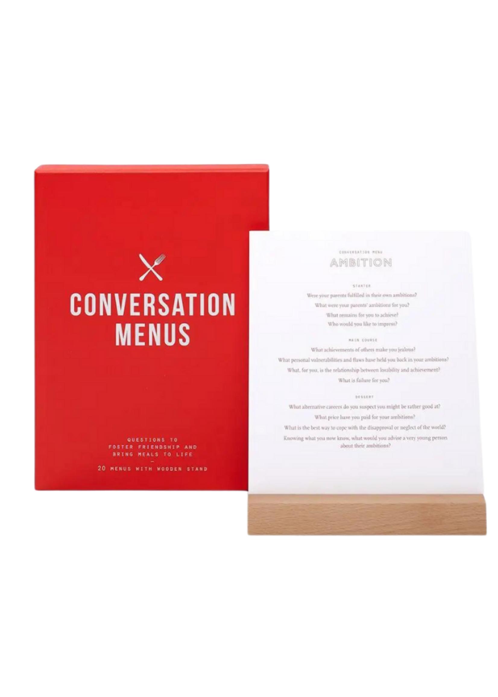 The School of Life Conversation Menus Card Set