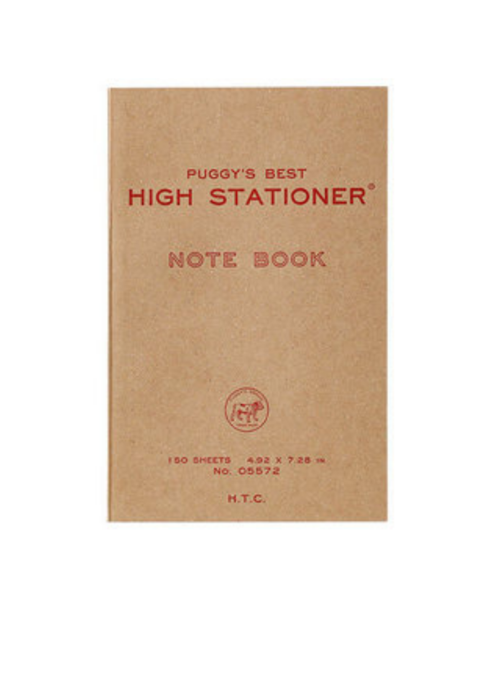 Hightide USA Puggy's Best Paperback Notebook/ L/ Red