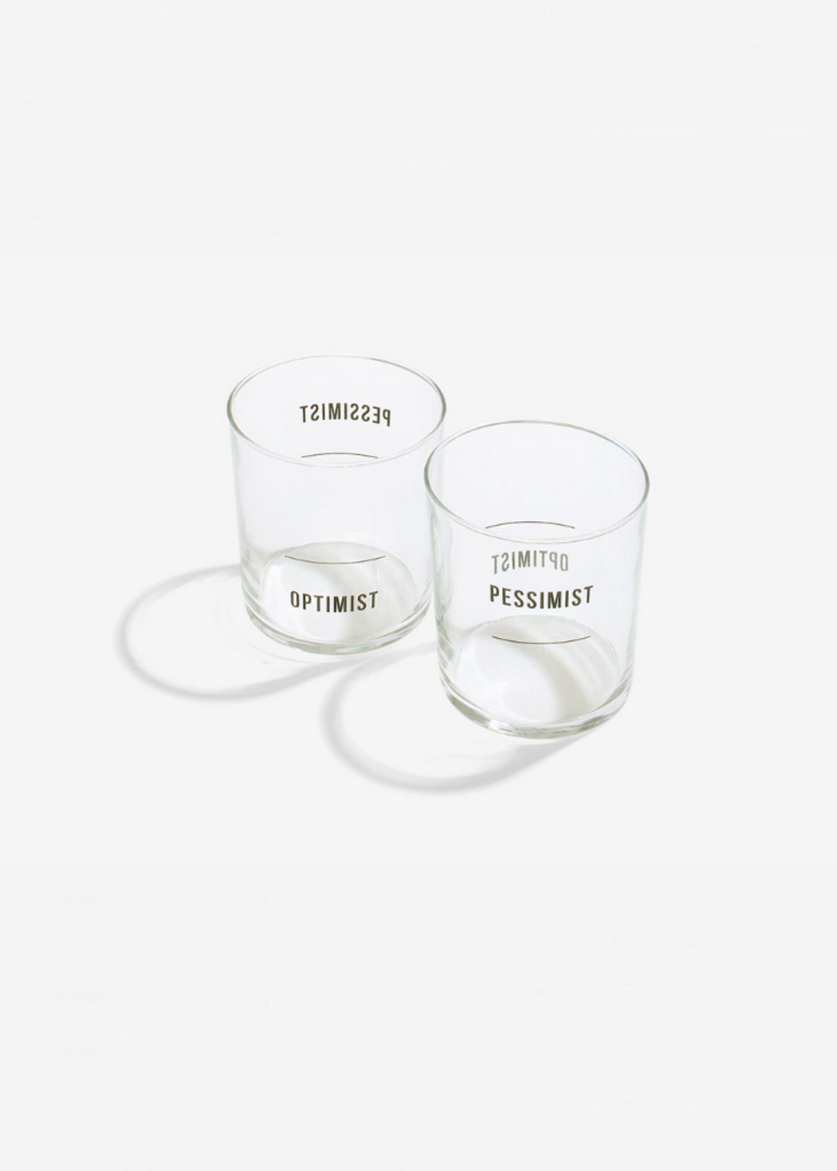 The School of Life Optimist and Pessimist Glass Set