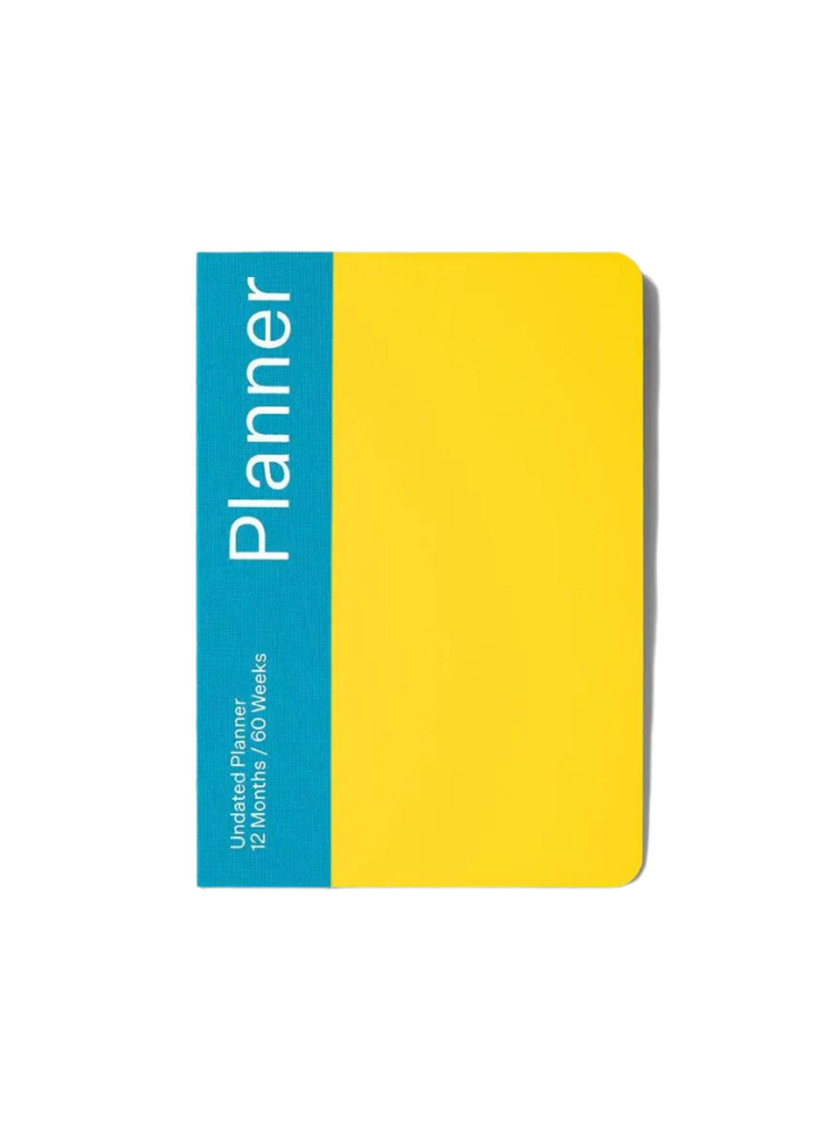 Mishmash Undated Planner Yellow