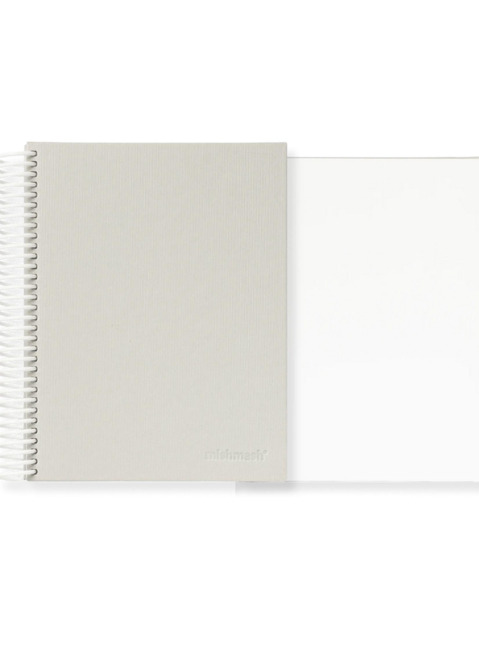 Mishmash Easy Breezy Grey Coil Notebook