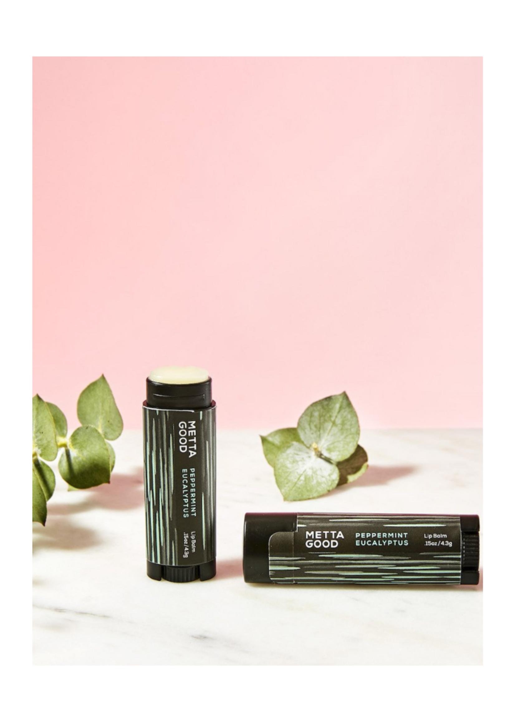 Metta Good Natural Lip Balm - Peppermint Eucalyptus
