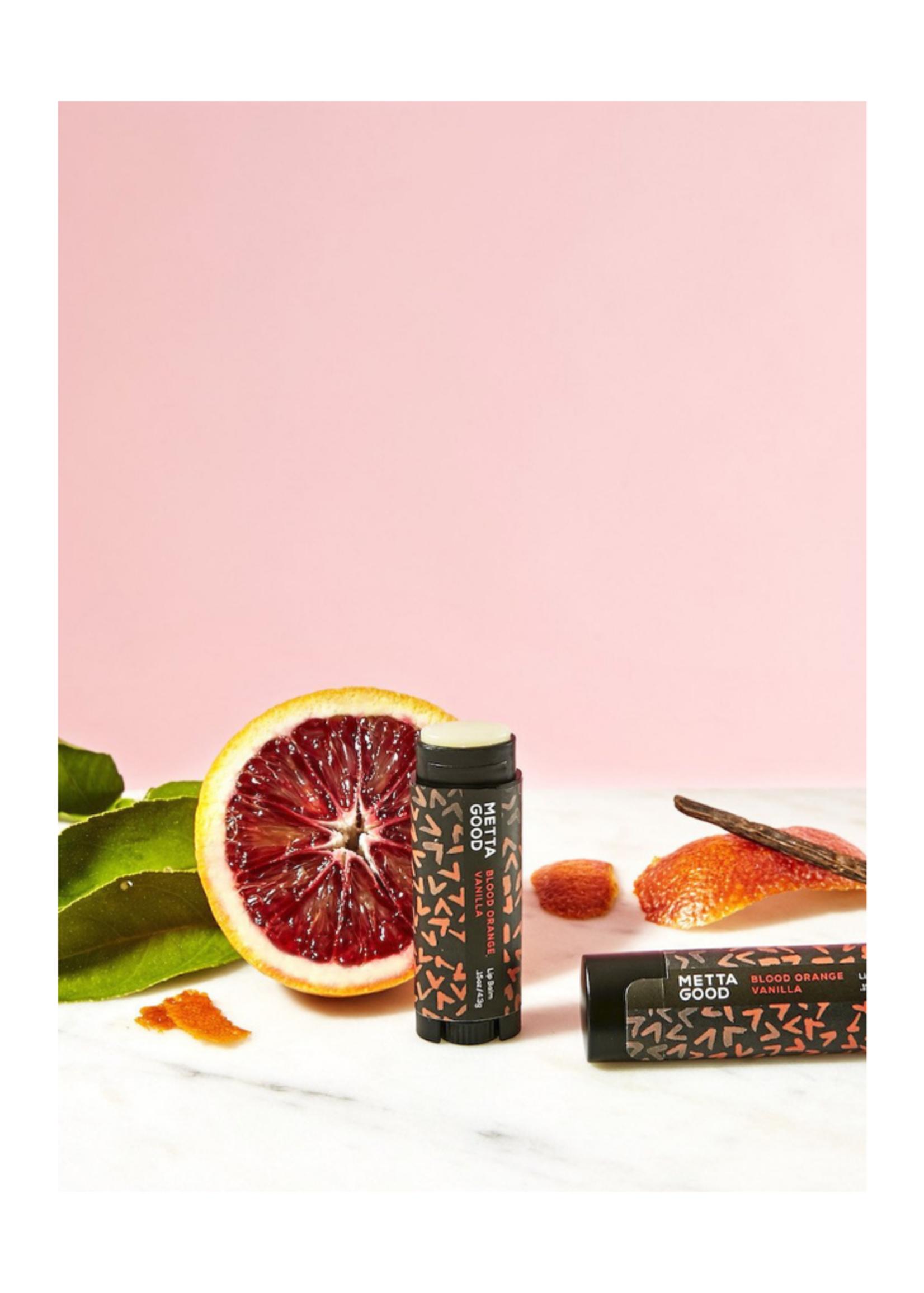 Metta Good Natural Lip Balm - Blood Orange Vanilla