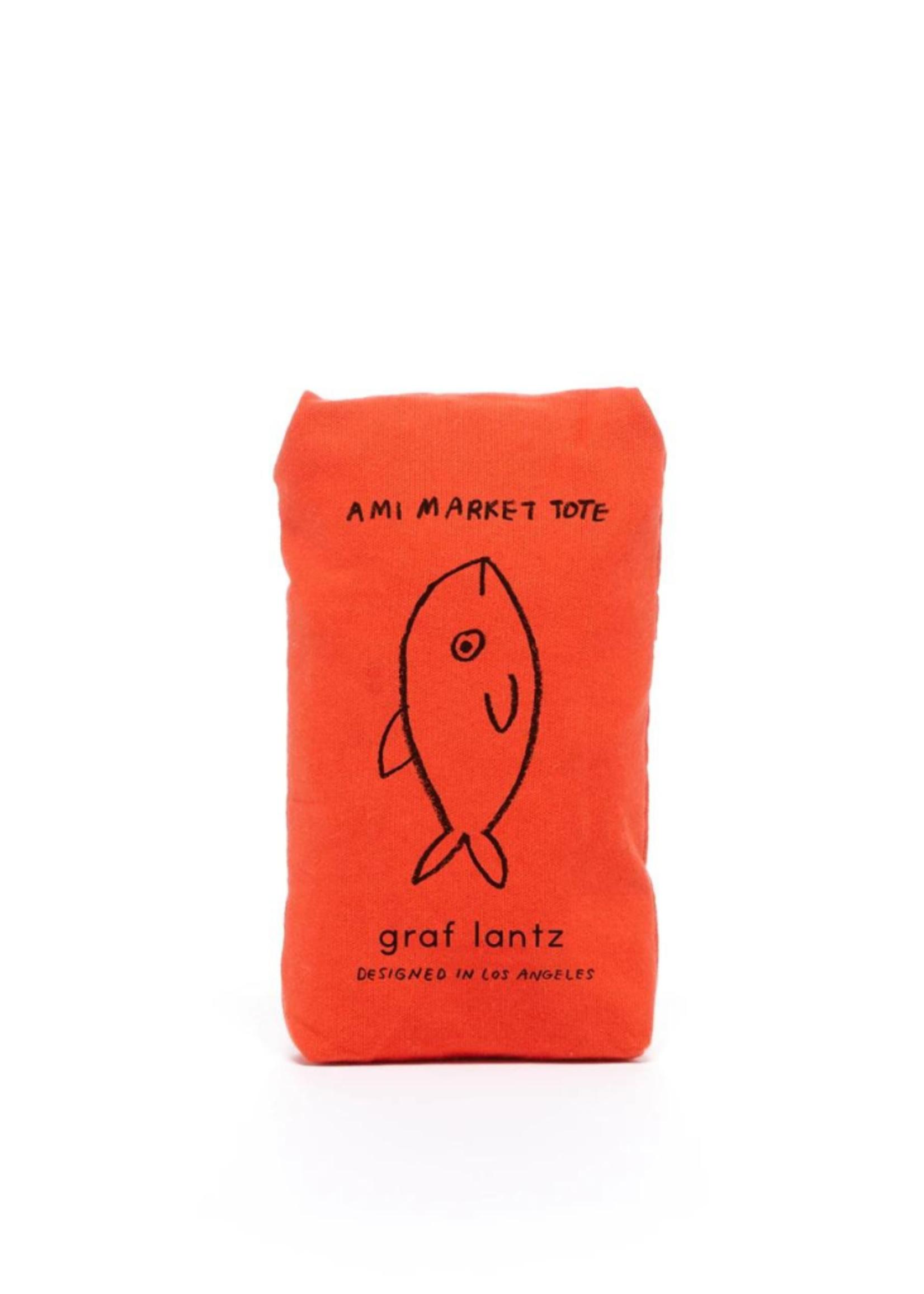 Graf&Lantz Ami Net Market Tote Orange