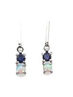 Joanna Gollberg Joanna Gollberg 2 Stone Bar Dangles Lab Opal & Iolite
