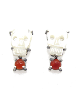 Joanna Gollberg Joanna Gollberg Skull Earrings Red Onyx