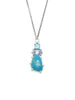 Joanna Gollberg Joanna Gollberg 3 Stone Pendant Turquoise, Blue Topaz and Blue Apatite