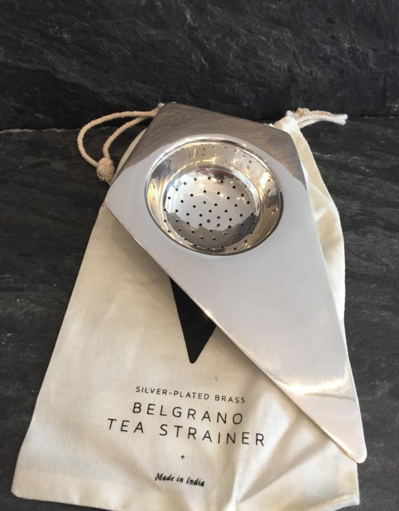 Sir/Madam Silver Plated Brass  Belgrano Tea Stariner