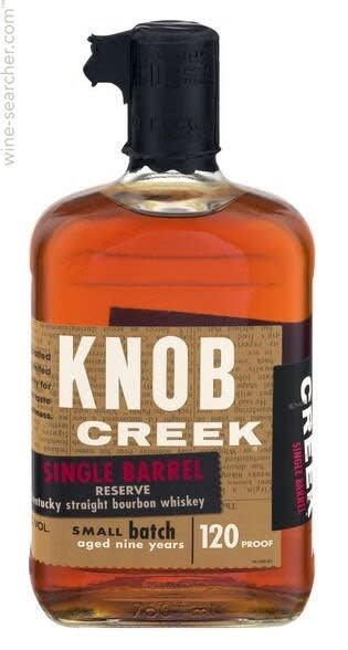 Knob Creek Single Barrel Whiskey 120 Proof 750ml