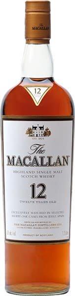 The Macallan 12yr Whiskey 750ml