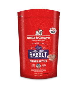 Stella & Chewy's Stella & Chewys Absolutely Rabbit Frozen Raw Dinner Patties For Dogs