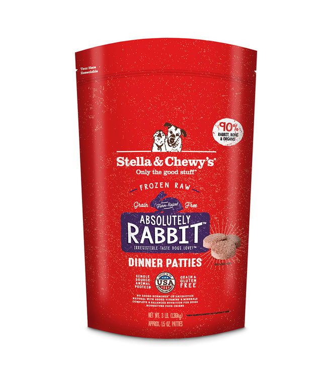 Stella & Chewy's® Stella & Chewy's® Absolutely Rabbit Frozen Raw Dinner Patties For Dogs
