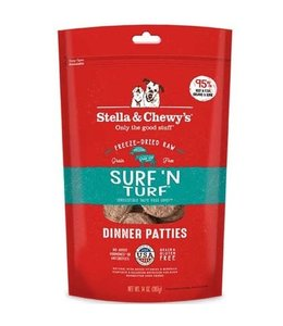 Stella & Chewy's Stella & Chewy's Surf 'N Turf Freeze-Dried Raw Dinner Patties
