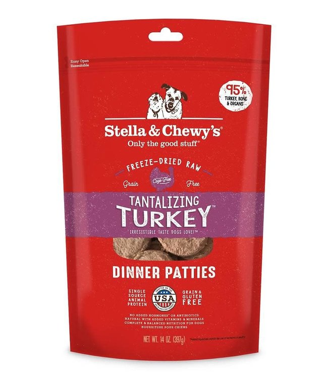 Stella & Chewy's Stella & Chewy's Tantalizing Turkey Freeze-Dried Raw Dinner Patties