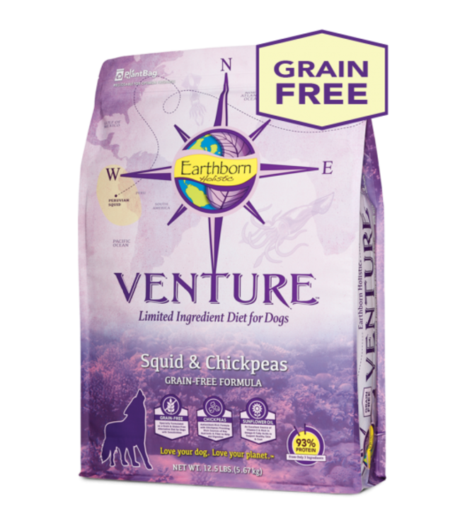 Earthborn Holistic® Earthborn Holistic® Venture™ Squid & Chickpeas Limited Ingredient Grain-Free Diet