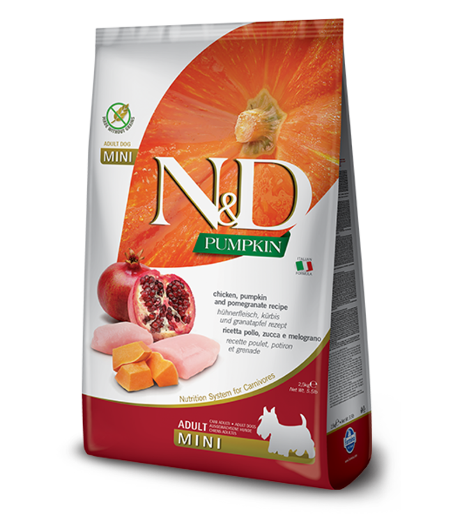 Farmina Farmina N&D PUMPKIN Grain Free Chicken & Pomegranate Mini Adult