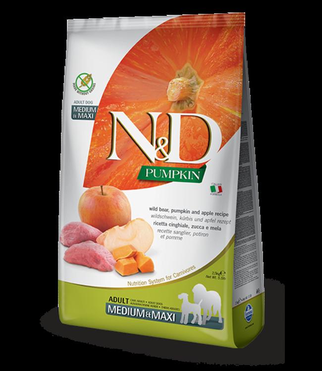 Farmina Farmina N&D PUMPKIN Grain Free Boar & Apple Med-Maxi Adult
