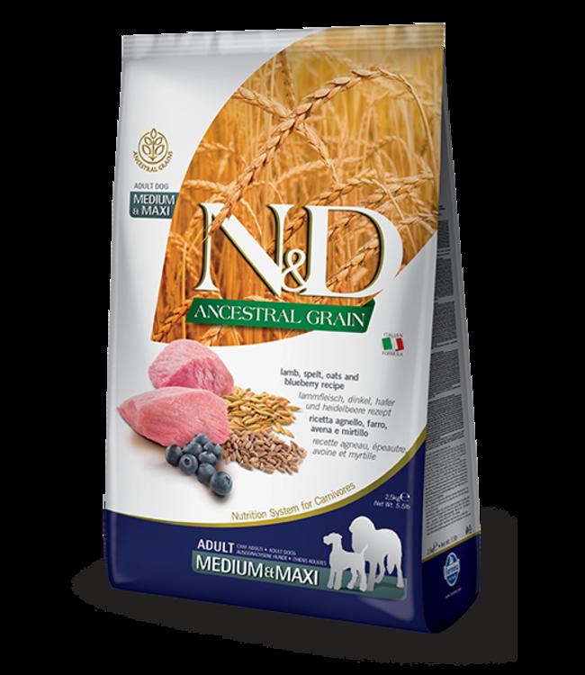 Farmina Farmina N&D ANCESTRAL GRAIN Lamb & Blueberry Medium Maxi Adult 26.4#