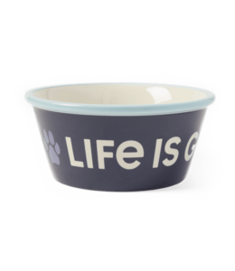 Life is good® Life is good® Products at The PawStand - Paw Wag On Large Dog Bowl