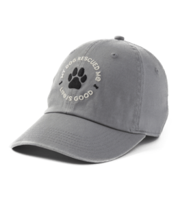 Life is good® Life is good® Products at The PawStand - My Dog Rescued Me Chill Cap