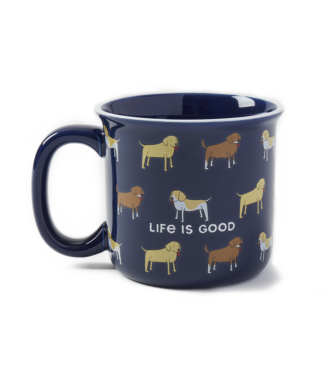 Life is good® Life is good® Products at The PawStand - Dog Print Happy Camper Mug