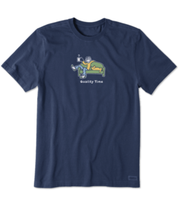 Life is good® Life is good® Products at The PawStand - Men's Jake And Rocket Quality Time Crusher Tee