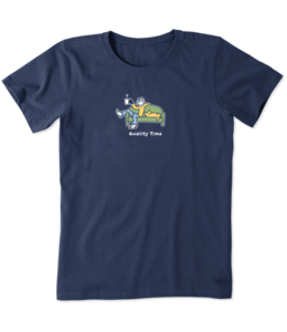 Life is good® Life is good® Products at The PawStand - Women's Jake And Rocket Quality Time Crusher Tee