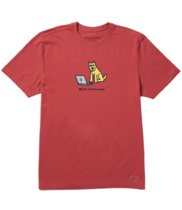 Life is good® Life is good® Products at The PawStand - Men's Rocket Work From Home Crusher Tee Medium