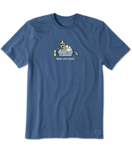 Life is good® Life is good® Products at The PawStand - Men's Rocket Wash Your Paws Crusher Tee