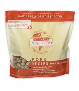 Steve's Real Food Steve's Real Food Freeze Dried Dog & Cat Food Nuggets Pork Diet 1.25lb