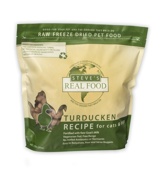 Steve's Real Food Steve's Real Food Freeze Dried Dog & Cat Food Nuggets Turducken Diet 1.25lb